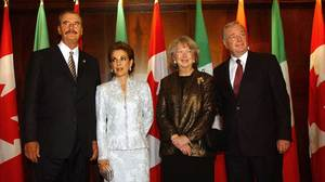 Mexican President Vicente Fox & Prime Minister Paul Martin With Wives