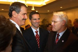 Mexican President Vicente Fox Meets Dalton McGuinty And Gordon Campbel