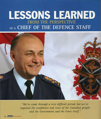 Canadian National Defence, Article On General Henault